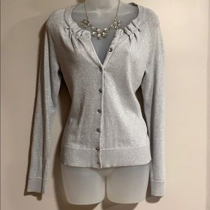 NYC silver sparkle cardigan